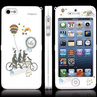Cover with two Friends of Bicycle for iPhone 5