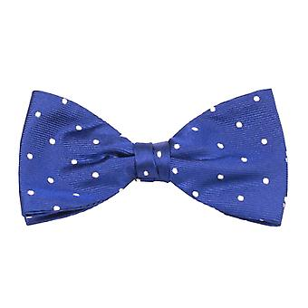 View fly silk silk bow tie loop tie polka dots blue