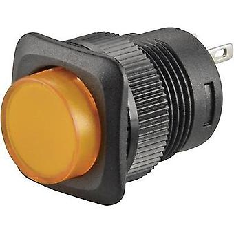 Pushbutton 250 Vac 1.5 A 1 x Off/(On) SCI R13-508A-05 YELLOW momentary 1 pc(s)