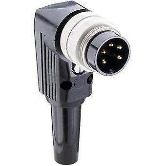 DIN connector Plug, right angle Number of pins: 8 Silver Lumberg WSV 81 1 pc(s)