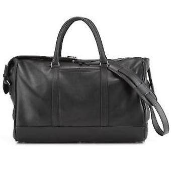 Daines & Hathaway Finsbury Black Leather Overnight Bag