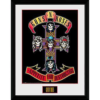 Guns N Roses appétit encadrée Collector Print