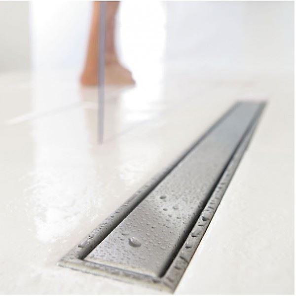 WIRQUIN Wetroom salle de bains étage douche linéaire de vidange inox 70-110cm