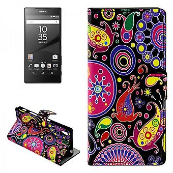 Pocket wallet premium pattern 8 for Sony Xperia Z5 5.2 inch