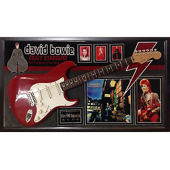 David Bowie Signed Guitar Ziggy Stardust Custom Framed