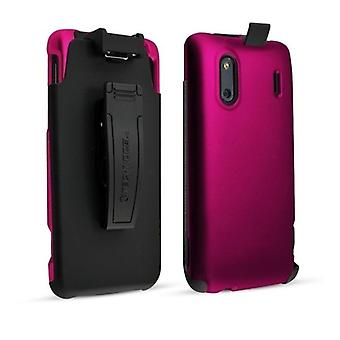 Technocel Case/Shield Holster Combo HTCEDHOCPK for HTC EVO 4G (Pink, Black)
