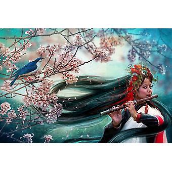 Songbird plakat Print af Aimee Stewart