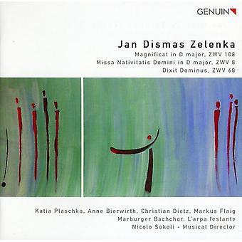 J.D. Zelenka - Jan Dismas Zelenka: Magnificat; Missa Nativitatis Domini; Dixit Dominus [CD] USA importerer