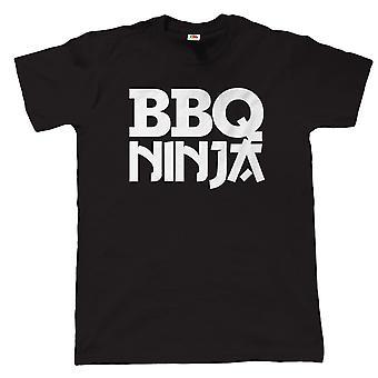 Vectorbomb, BBQ Ninja, Mens Funny Grilling T Shirt (S to 5XL)
