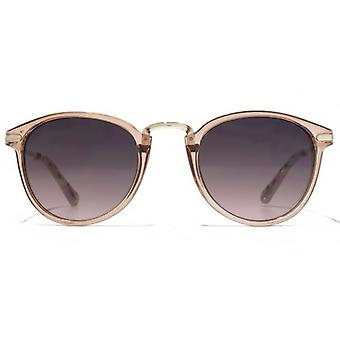 American Freshman Plastic & Metal Preppy Sunglasses In Crystal Nude