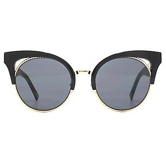 Marc Jacobs Metal Twist Clubmaster Style Sunglasses In Black