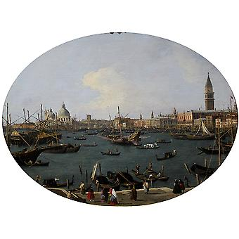 Canaletto - Bacino di San Marco in Venedig anagoria Poster Print Giclee