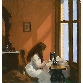 Edward Hopper - Girl At Sewing Machine Poster Print Giclee