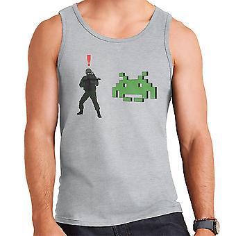 Metal Gear Solid Enemy Soldier Alert Space Invaders Men's Vest