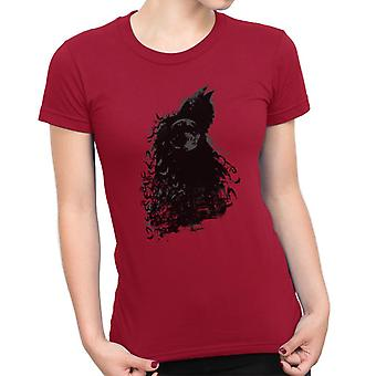 Batman Dark Knight Silhouette Moon Damen T-Shirt