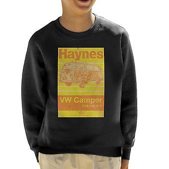 Haynes Workshop manuelle Volkswagen Camper 1972 Streifen Kinder Sweatshirt