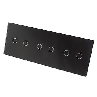 I LumoS Luxury Black Crystal Glass Panel Touch Dimmer Controlled LED Light Switches