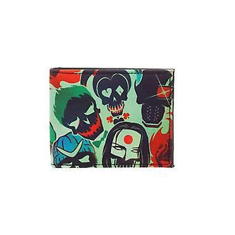 DC Comics Suicide Squad teschi Bifold Wallet Multi colore (MQ4CA0SSQ)