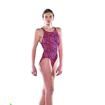 Maru Groove Pacer Vault Back Swim Suit -Red/Black