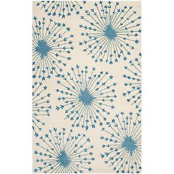 Sarah Beige & blå blomster tæppe - Safavieh