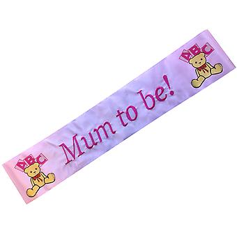 Baby Shower �Mum To Be� Pink Ribbon Sash
