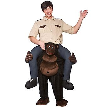 Adults Fancy Dress One Size Carry Me Gorilla Costume