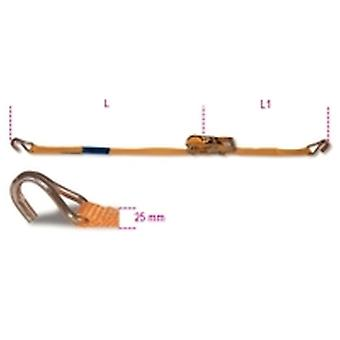 Beta 8180 25-Mt4 Ratchet Tie Down W/ Single Hook Lc 750Kg Belt 25Mmx4 Metre
