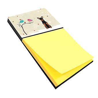 Christmas Presents between Friends Manchester Terrier Sticky Note Holder