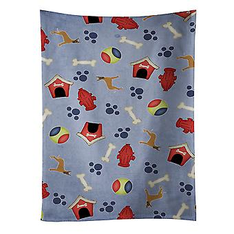 Dog House Collection Brindle Cropped Great Dane Kitchen Towel