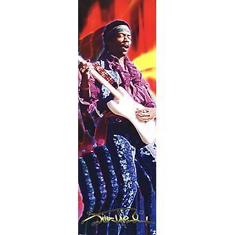 Jimi Hendrix - Guitar - Door Poster Poster Print