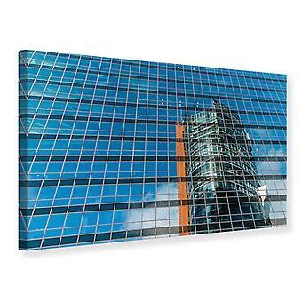Lærred Print skyskraber spejl