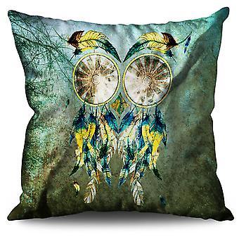 Lovely Dream Catcher Linen Cushion Lovely Dream Catcher | Wellcoda