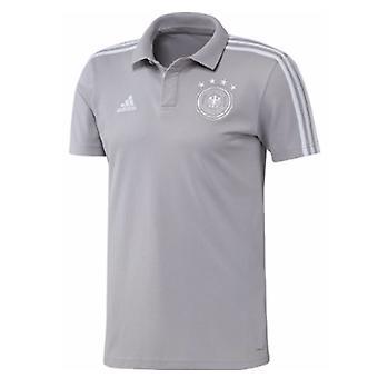 2018-2019 Tyskland Adidas Cotton Polo skjorte (grå)