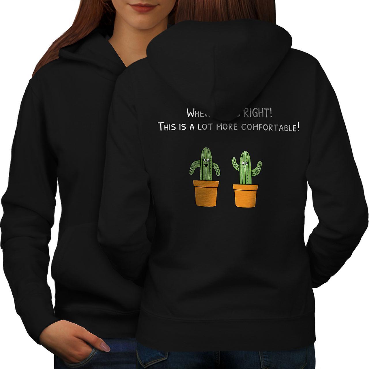 Cactus drôle femmes noirHoodie dos