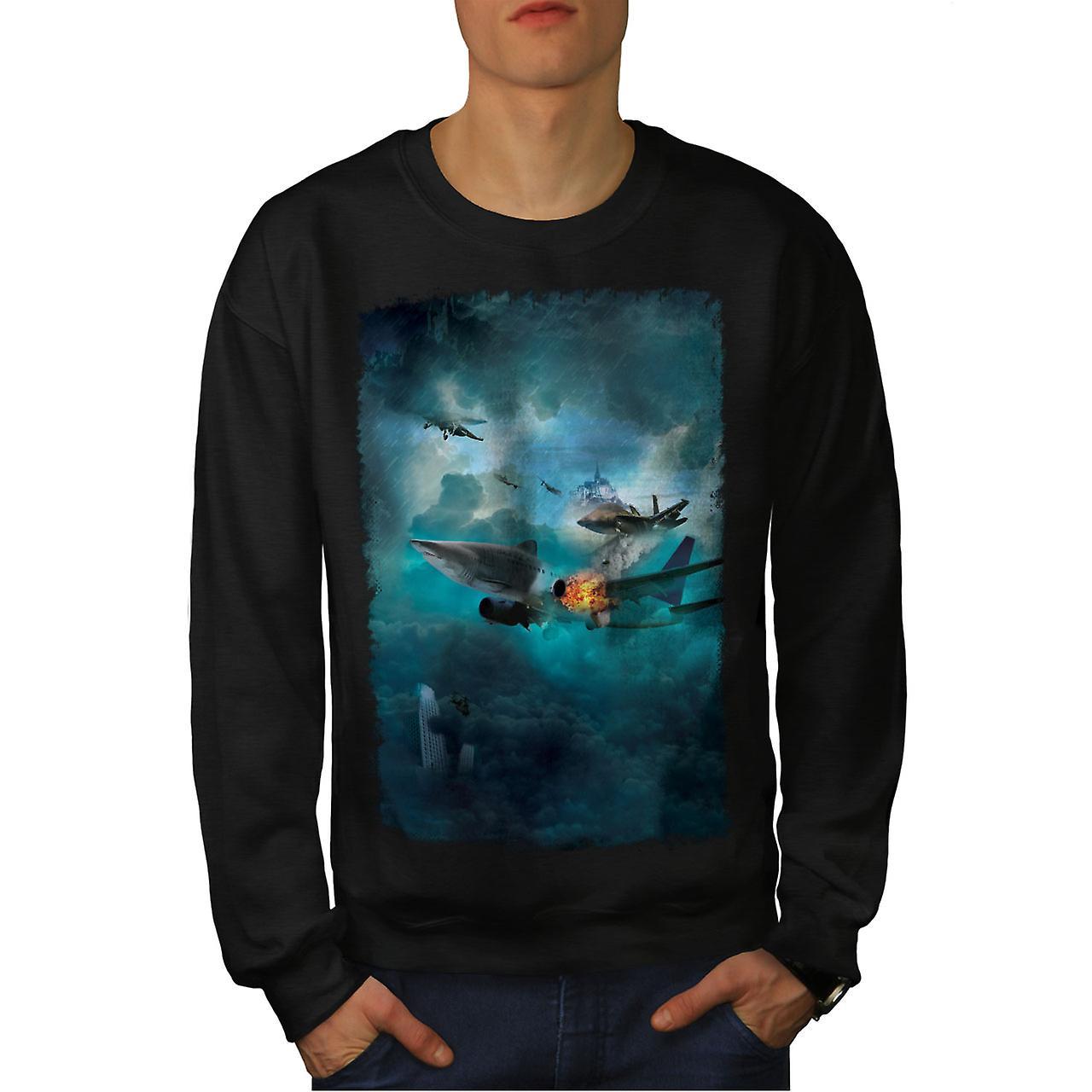 Fighter Jet Cool Fashion Men noirSweatshirt