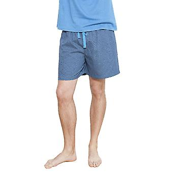Cyberjammies 6228 Herren James blau getupft Pyjama kurz