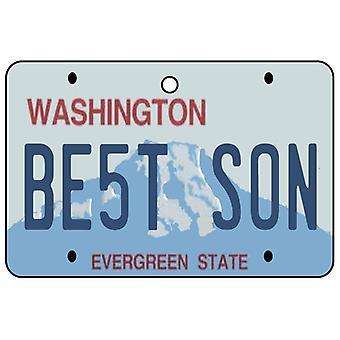 Washington - Best Son License Plate Car Air Freshener