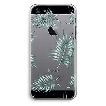 iPhone 5 / 5S / SE Transparent Case - Simple leaves