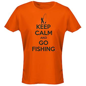 Keep Calm And Go Fishing Womens T-Shirt 8 Colours (8-20) by swagwear