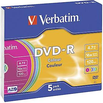Blank DVD-R 4.7 GB Verbatim 43557 5 pc(s) Slim cas