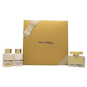 Dolce & Gabbana The One Gift Set 75ml EDP + 50ml Body Lotion + 50ml Shower Gel