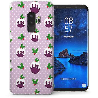 Samsung Galaxy S9 Plus Christmas Pudding TPU Gel geval – paars