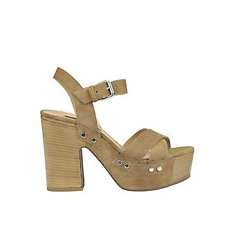 Janet & Janet women's MCGLCAT03206E brown suede sandals