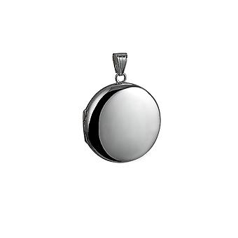 Silver 29mm plain round Locket