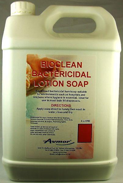 Bioclean | Liquid Bactericidal Cleaner | Hand Soap | 5 Litre