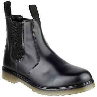 Amblers Mens Colchester Slip On Leather Dealer Boot Black
