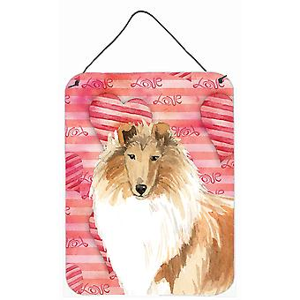 Love a Rough Collie Wall or Door Hanging Prints