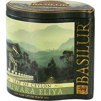 Basilur Tea Leaf Of Ceylon Tea From Nuwara Eliya Region Tin Caddy 125G
