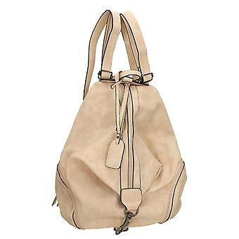 Ladies Remonte Zip Up Backpack Q0500-40 - Beige Synthetic - One Size