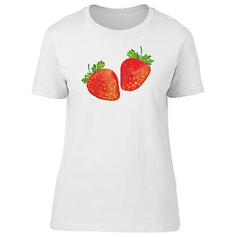 Two Red Strawberries Tee Women's -Image by Shutterstock